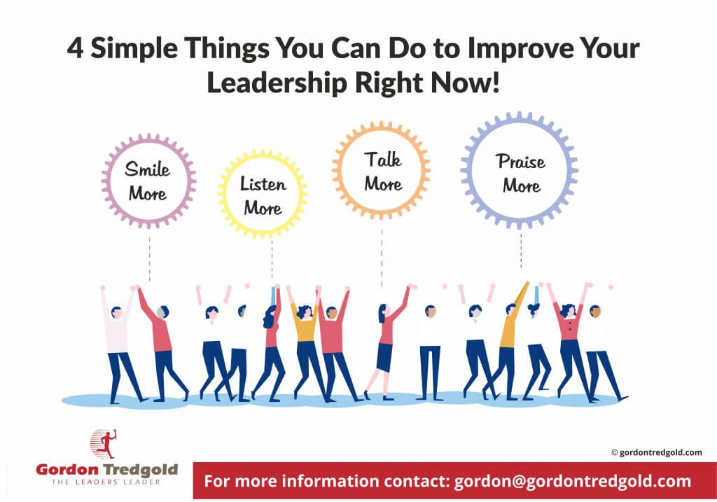 4 Simple Things That You Can Do To Improve Your Leadership Today!